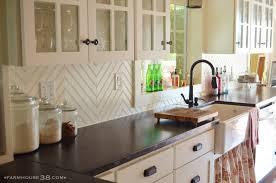 kitchen diy chevron beadboard backsplash farm and foundry marble