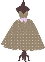 Vintage Dresses Cliparts