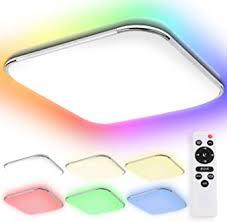 hengda led deckenleuchte 36w rgb farbwechsel deckenle dimmbar mit fernbedienung lichtfarbe einstellbar le für bad schlafzimmer wohnzimmer