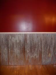 Barn Tin Cut In Half And Screwed It To The Wall Add Molding On Top Give A Finished Look Is Great Idea For House With Kids