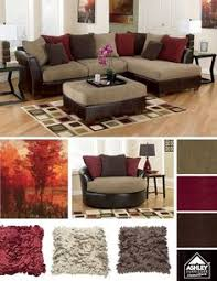Brown Couch Living Room Decorating Ideas by Brown Sectional Sofa Plus Blue Living Room Inspiration Living