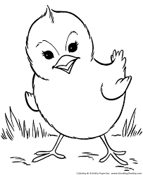 Farm Animal Coloring Page Free Printable Chicken Pages Featuring Hundreds Spring Baby Chick Sheets