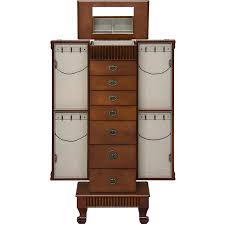 Amazon.com: Best Choice Products Wood Jewelry Armoire Cabinet ... Usa Free Shipping Organizer White Wood Rotating Desktop Jewelry Armoire Sewing Table Ikea Computer Corner Desks Amazoncom Hives And Honey Henry Iv Walnut Plaza Astoria Walldoormount Black Diplomat 31557 Watch Cabinet Fniture Beautiful For Home In Powell Classic Cherry Kitchen Ding Mirror With Or Wardrobe Blackcrowus Buy The Haley At Michaels Mele Co Alexis Wooden Belham Living Mirrored Lattice Front
