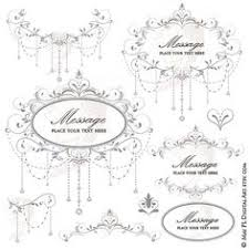 Elegant Wedding DIY Invitations Digital Frame Chandelier Floral Heart Flourish Border Gray Grey Gorgeous VECTOR Eps Png Clip Art Set 10446