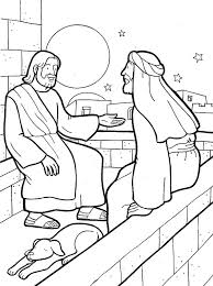 ColouringJesus Nicodemus King Nebuchadnezzar And Queen Colouring Page