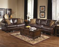 Raymour And Flanigan Broadway Dining Room Set by Ashley Axiom Walnut Genuine Leather Sofa And Love Seat Fashion