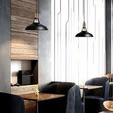 hängeleuchte vintage hängele schwarz metall vintage pendelleuchte retro lenschirm industrial eisen e27 für esszimmer esstisch flur restaurant