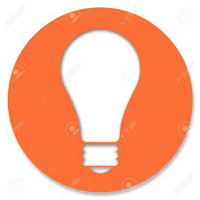 light bulb in orange circle stock photo picture and royalty free