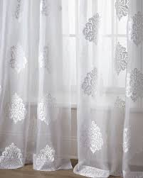 Gold And White Sheer Curtains by Each 96