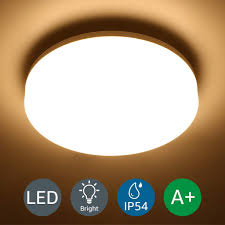lighting 15w deckenle ip54 wasserfest badle 3000k led deckenleuchte 1250lm len ideal für badezimmer balkon flur küche wohnzimmer