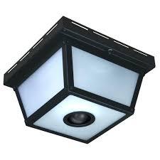 outdoor wall mount motion sensor light bay square 4 black sensing