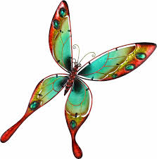 Amazon Regal Art Gift Butterfly Wall Decor Blue Sculptures Garden Outdoor