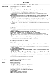Formidable Resume Sample For Mental Health Nurse Your