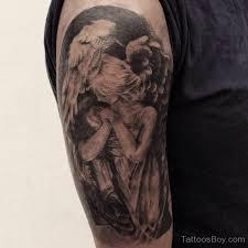 Black Guardian Angel Tattoo Design