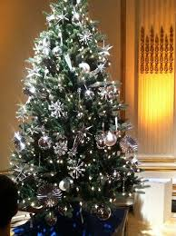Flocked Christmas Tree Decorated