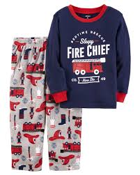 2-Piece Fire Chief Cotton & Fleece PJs | Carters.com