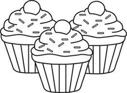 Cupcake clipart black n white 8