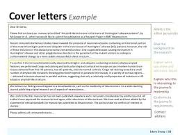 How To Write A Cover Letter For Scientific Manuscript Submission Best Ideas Of