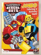 NEW Transformers Rescue Bots Jumbo Coloring Activity Book Color