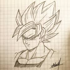 Goku Super Saiyan 4 Sketch At PaintingValleycom Explore