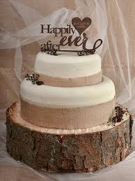 Wedding Cake Topper Rustic Decor Couple Monogram