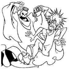 Ghost Shaggy Scooby Doo And Thirteen Coloring Page