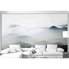 fototapete 3d effekt tapete schöne wolken und berge und