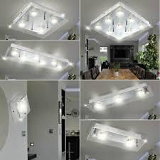 details zu led decken wand strahler le spiegel leuchte bad beleuchtung alu glas design
