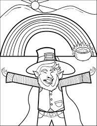 Printable Leprechaun Coloring Page For Kids