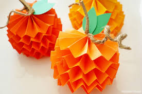 DIY Decor How To Make Paper Pumpkins For Fall