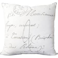 French Script Chair Cushions by French Script Pillow Wayfair