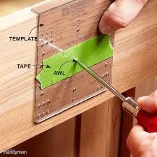 Kitchen Cabinet Hardware Placement Template by How To Install Cabinet Hardware Family Handyman