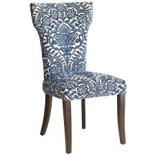 Pier One Dining Room Chair Cushions by Carmilla Dining Chair Blue Damask Online Interior Design