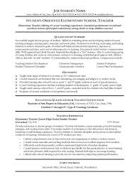 Resume For Teachers Position Examples Of Resumes And Professional