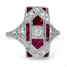 deco ruby and ring 25 fabulous vintage engagement rings chic vintage brides
