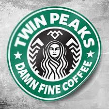 Twin Peaks Starbucks Coffee 3x3 Round Stickers Laura Palmer Wrapped In Plastic