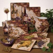 Plain Astonishing Wine Kitchen Decor Grapes And Tuscany Vineyard