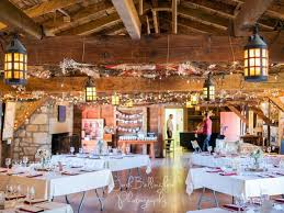Interior Shot Of Beautiful Navy Hall Preparations For A Wedding Ceremony Vintage And Rustic Style Decorations