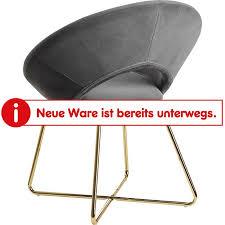 wohnling esszimmerstuhl samt küchenstuhl mit goldenen beinen schalenstuhl stoff metall design polsterstuhl stuhl esszimmer gepolstert