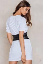 faye corset belt t shirt dress buy online na kd