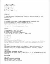 Career Objective For Culinary Resume Chef Statement Examples Samples Rh Ndoilrigs Com Cook Sample