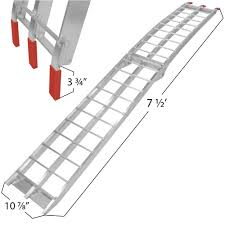 100 Aluminum Loading Ramps For Pickup Trucks Dirt Bike Single 7 5 Dirt Bike Ramp