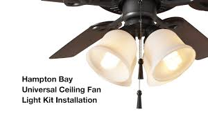 Hampton Bay Ceiling Fans Troubleshooting Light by How To Install The Hampton Bay 4 Light Universal Ceiling Fan Light