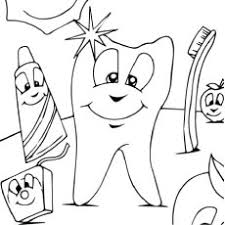Dental Hygiene Dentist Treating A Child Patient Coloring Page
