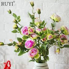 Vivid colorful silk flower big size floor artificial rose wedding