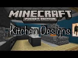 minecraft pe kitchen designs youtube