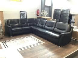 couchgarnitur hukla leder schwarz wohnzimmer sofa