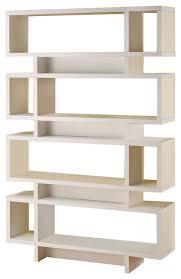 Open Bookcase by Contemporary Cappuccino Finish Open Bookcase Contemporary