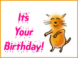 it s your birthday with animated cat photo PSPJumpingCat
