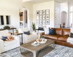 Living Room Modern Living Room Ideas With Brown Leather Sofa